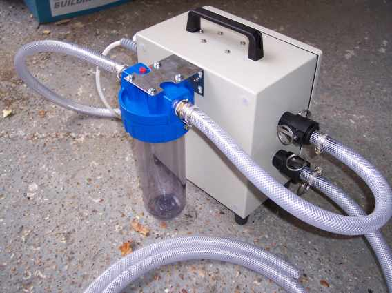 Decontamination unit waste water filtration
